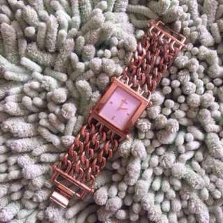 AUTHENTIC / ORIGINAL GUESS Triple Chain Watch (Jam Guess Original)
