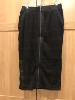 Evil Twin Long Zip Skirt Size Medium Great Condition