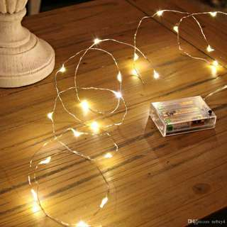Battery operated copper fairy lights