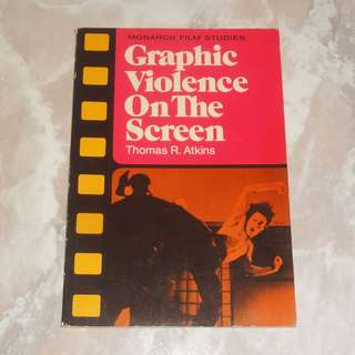 Graphic Violence On The Screen Book 1976 Monarch Film Studies Bruce Lee Clint Eastwood Godfather Dirty Harry Enter The Dragon