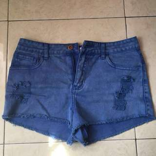 Forever 21 blue jeans ripped shorts