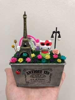 🌈SALE! Hello Kitty Sunglasses Eiffel Paris Tower Lamp Post Frozen Flowers Cute Terrarium Deco Antique Tin Pot