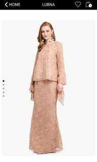 Baju Kurung Moden  *LUBNA - lace tied knot sleeve kurung