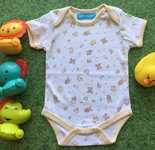 Unisex Baby Romper with Teddy Bear Motif