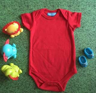 Unisex Baby Romper in Red