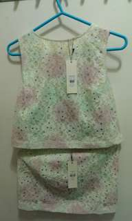 "Top shop skirt set (eur 38 / 26""-27"" )"