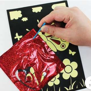 Magic foil art for kids