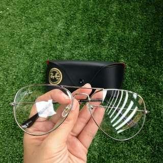 Rayban Aviator Clear Lens Optical Fashion Eyewear (Silver) 🌟