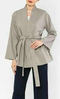 Poplook Bellatrix Kimono Style Wrap In Heather