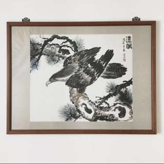 Chinese Painting. Eagle Vision