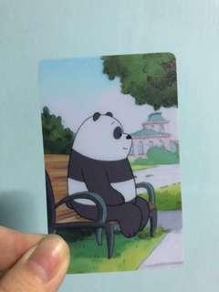 We Bare Bears Ezlink card sticker