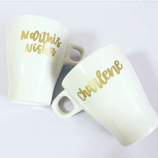 Customisable cup calligraphy anniversary Day gift gifts present presents Friend friends friend's birthday party event Wife Boyfriend Girlfriend girl teacher Teachers customised company graduation  Mug mugs coffee Personalised wedding bridesmaid cups