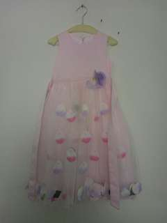 Party pink dress for kids
