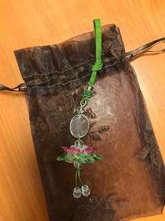 水晶觀音蓮花吊飾