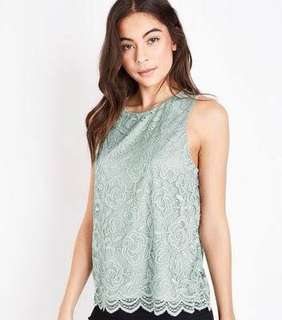 MIGAINO white flower lace sleeveless