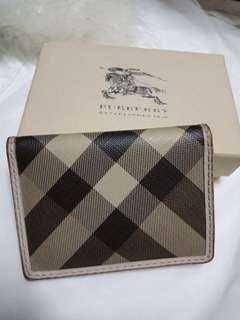 Authentic Burberry card holder/wallet