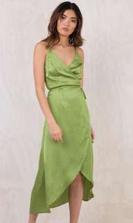 Somedays lovin' green wrap dress!