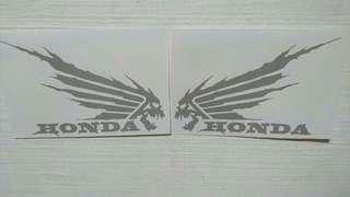 Honda skull tank sticker