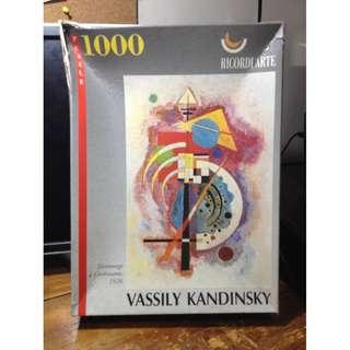 1000 pcs Jigsaw puzzle vassily kandinsky, Hommage a Gromann 1926