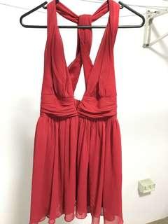 Red Angle Biba Cocktail Dress