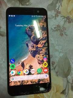 HTC U11 Solar Red Cracked Screen