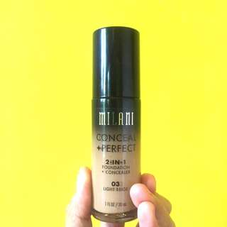MILANI Conceal+Perfect 2 in 1 Foundation 03 Light Beige