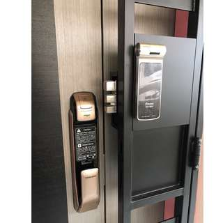 Samsung P728 Push Pull + Gateman Z10 Digital Lock for BTO Door and Gate at $1480 (Call 87828818)