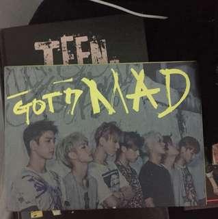 Got7 Mad Album (preloved)