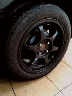 "15"" SSR sport rim with Michelin tyre"