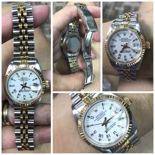 Rolex Datejust Ladies Roman Numeral White Face