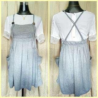 Adjustable Jumper Skirt Cotton