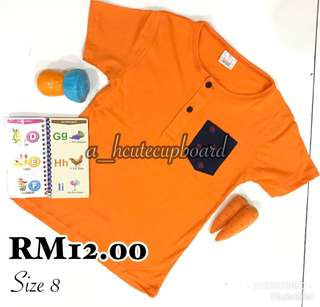 T Shirt Pocket Button 1-6y