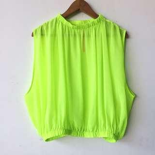 Neon chiffon blouse