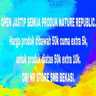 OPEN JASTIP NATURE REPUBLIC