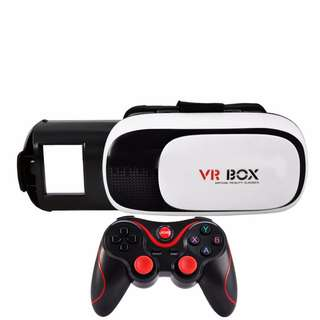 Cellphone 3D VR Game Console Set of Wireless Bluetooth Gamepad Game Controller + Headset VR Box 3D Glasses Mobile Phone Virtual Reality Case
