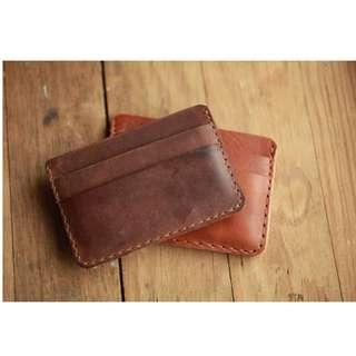 Customizable Handmade Leather Card Holder (+engraving)