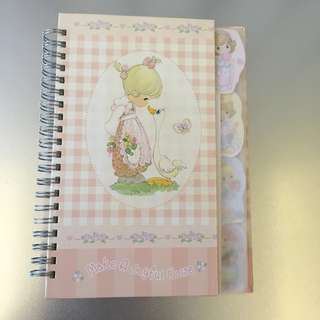 [BNIP] Precious Moment Hard Cover Note Book with Separater