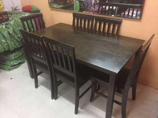 Table dining set/ set meja makan