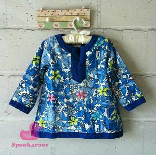 Spookaroos Blue Floral Tunic