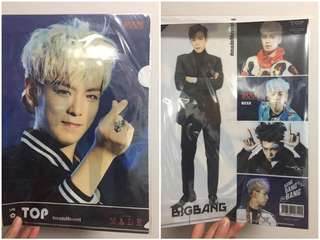 [$30 3個包郵]Big Bang G Dragon T.O.P folder