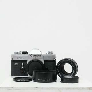 Canon FTb QL + FD 50mm f1.4 SSC + Extras