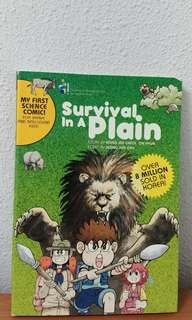 Survival in a plain science comic children comic book