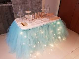 Dessert Table & Backdrop Setup
