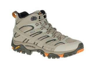 🚚 Runwaytw嚴選【美國MERRELL】男 戶外多功能 登山鞋 MOAB 2 MID GORE-TEX 米色12119