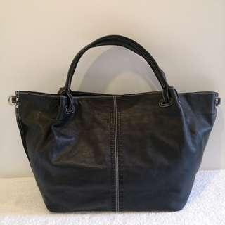 Authentic Joy & Peace Large Genuine Leather Tote Bag