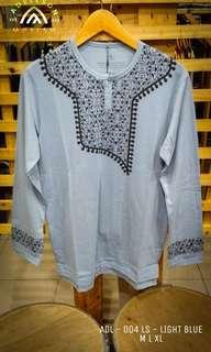Tshirt Koko Muslim Lengan Panjang ADL 004LS Light Blue