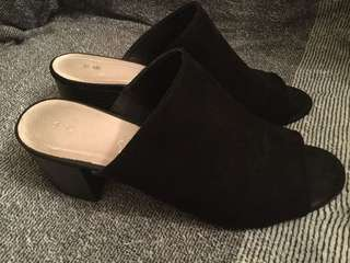 Women's slides with mid sized heel - size 10, worn once only!