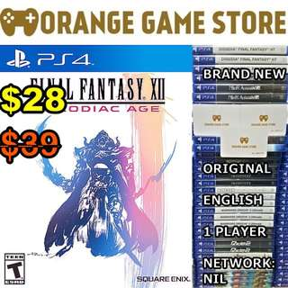 PS4 Final Fantasy Xll The Zodiac Age