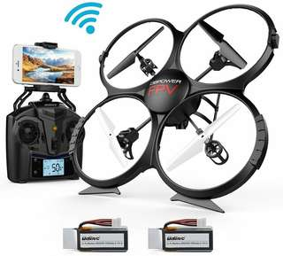 WIFI FPV Version U818A Drone with 720P HD Camera Quadcopter with 2 Batteries - Drone for Beginners