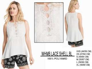 Branded Whmb lace shell blouse